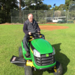 Falcons new ride on mower